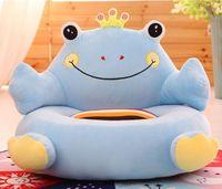 plush blue frog sofa toy cartoon frog design sofa floor seat tatami doll about 50x45cm s1966