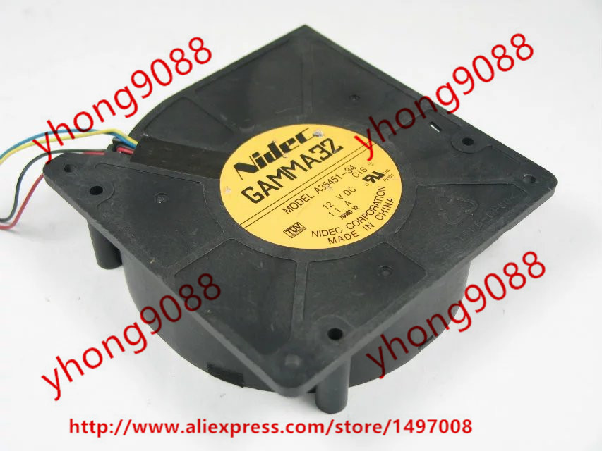 Nidec A35451-34 DC 12V 1.1A 4-wire 4-pin connector Server Square Cooling Fan new nidec v60e12bma7 07 6038 12v 0 65a 6cm 4pin server cooling fan