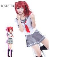 DJGRSTER Takami Chika Girls Sailor Uniforms Love Live Aqours School Uniforms Japanese Anime Love Live Sunshine