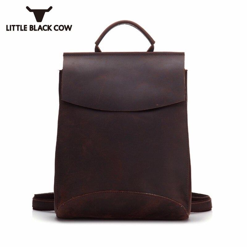 2019 Handmade Large Capacity Men Backpack Leather Women Male Laptop School Bag Cowhide Backpacks Luxury Simple Knapsack Woman