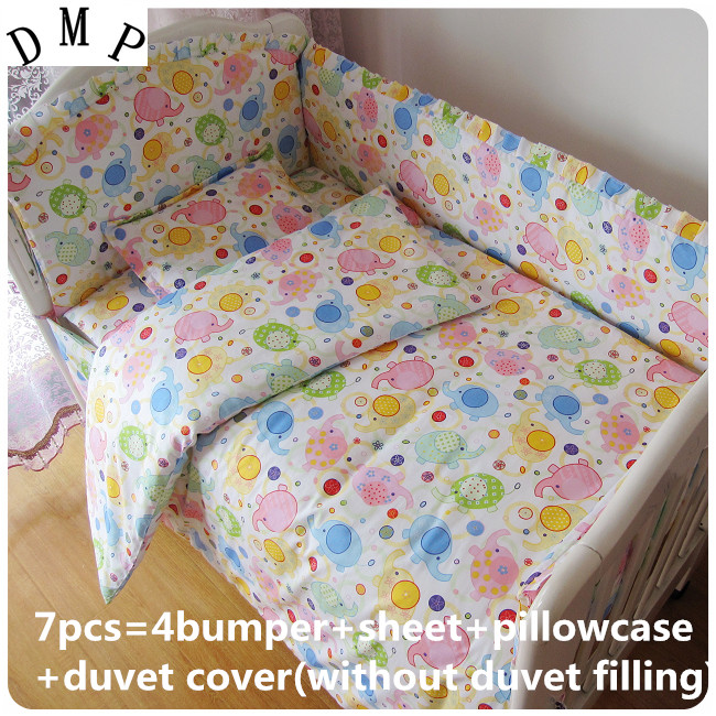Discount! 6/7pcs t baby bedding sets Bed set in the cot Bed for children Quilt bumpers ,120*60/120*70cm the wedding quilt