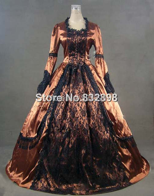Brand New Victorian Style Clothing Satin and Lace Ball Gown/ Party ...