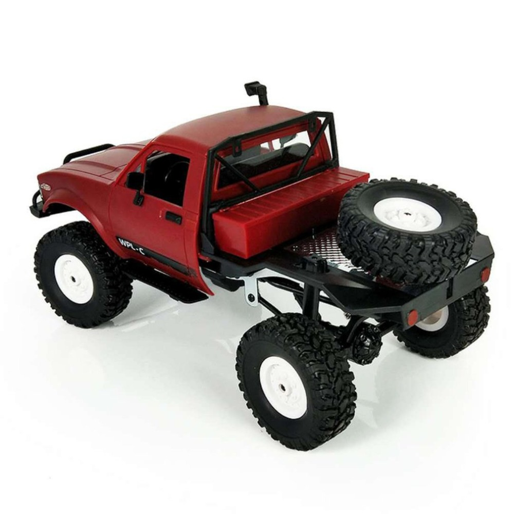 New Arrival 1:16 WPL C14 Scale 2.4G 4CH Mini Off-road RC Semi-truck RTR Kids Climbing Racing Car Model Toys Hobby for Kids Adult
