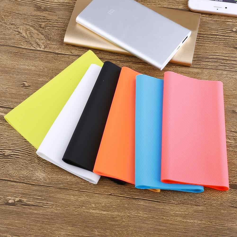 Portable Silikon Power Bank Case Eksternal Cover untuk 10000 MAh Xiaomi Power Bank