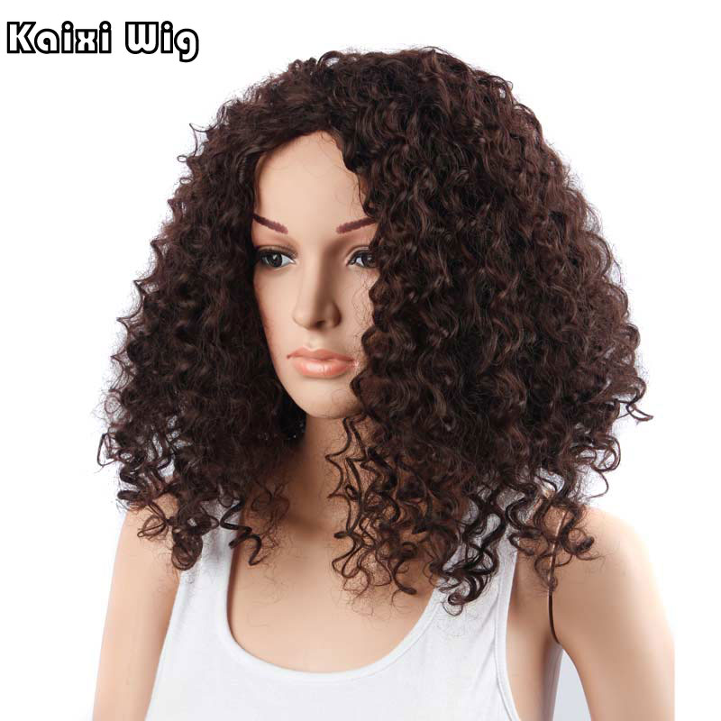 Afro Kinky Curly Wig Natural Hair Woman Long Cheap African Wigs For Women High Quality -6095