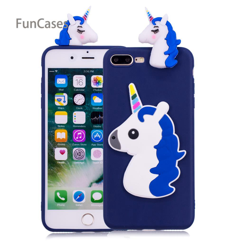 3D Unicorn Phone Case sFor Estuche iPhone 7 Plus Soft TPU Back Cover Mobile  Abstract Phone Etui Case For iPhone 8 Plus Phonet-in Fitted Cases from ... 7137b5c8f5baa