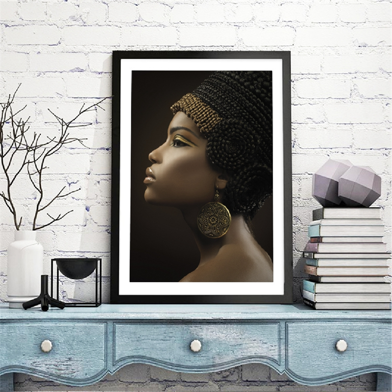 African Woman Canavs Prints Home Decor