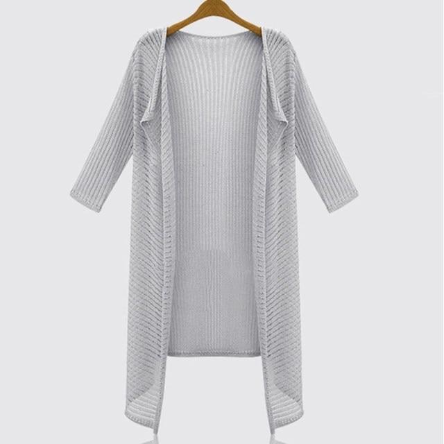 Женщины нью-летняя стиль европейский длинных полых вязаный кардиган половина рукава от солнца одеждой тонкий слой sweter mujer JY-664