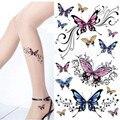 2 UNIDS Nuevo Arte Corporal Tatuajes Temporales A Prueba de Agua de Belleza Tatouage Temporaire 3D Tatoo Mujeres Hermosas Etiquetas Engomadas Del Tatuaje
