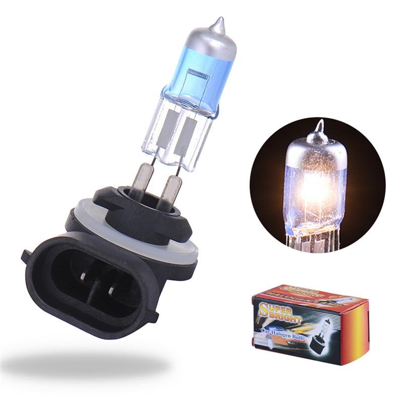 2 Pcs 881 Auto Car Headlight Bulbs 12V 27W Super Bright Fog Light Bulbs White Replaces 886/889/894/896/898