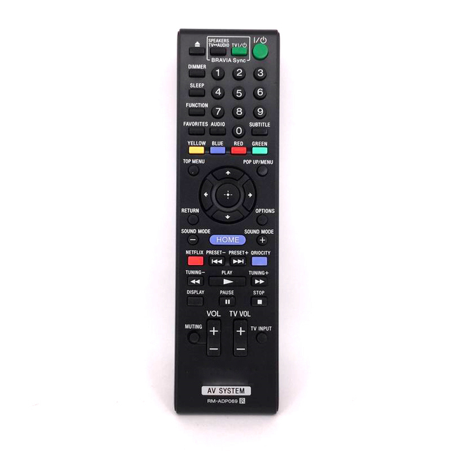 New Replacement High Quality Remote Control Rm Adp069 For Sony Bdv N790w Hb De3100 Av Controller