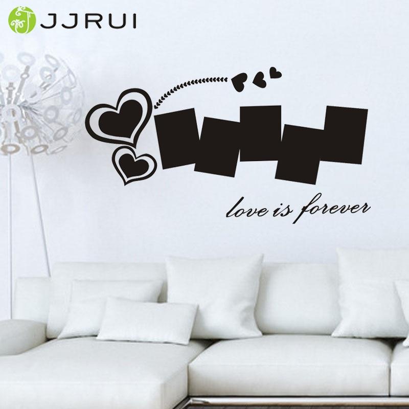 ᐊJjrui DIY corazón foto de familia Marcos Wall sticker Decal mural ...