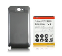 New 6500mAh Extended Battery Black Case Cover For Samsung Galaxy Note 2 II N7100 Free Shipping