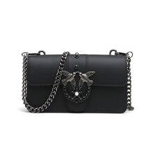 Swallow 2019 Female Brand Hand Bag Woman Messenger Bags Lady Rivet chain Women Fashion Leather Shoulder Bag Girl Crossbody Bags