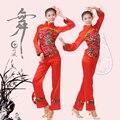 Танцевальные Костюмы Настоящее Хмонг Одежда 2016 Новый Национальный Танец с Веером Yangko Одежда Женские Сценические Костюмы Китайский Народная Традиционная