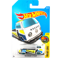 2017 N Hot Wheels 1 64 White Volkswagen T2 Pickup Metal Diecast Cars Collection Kids Toys