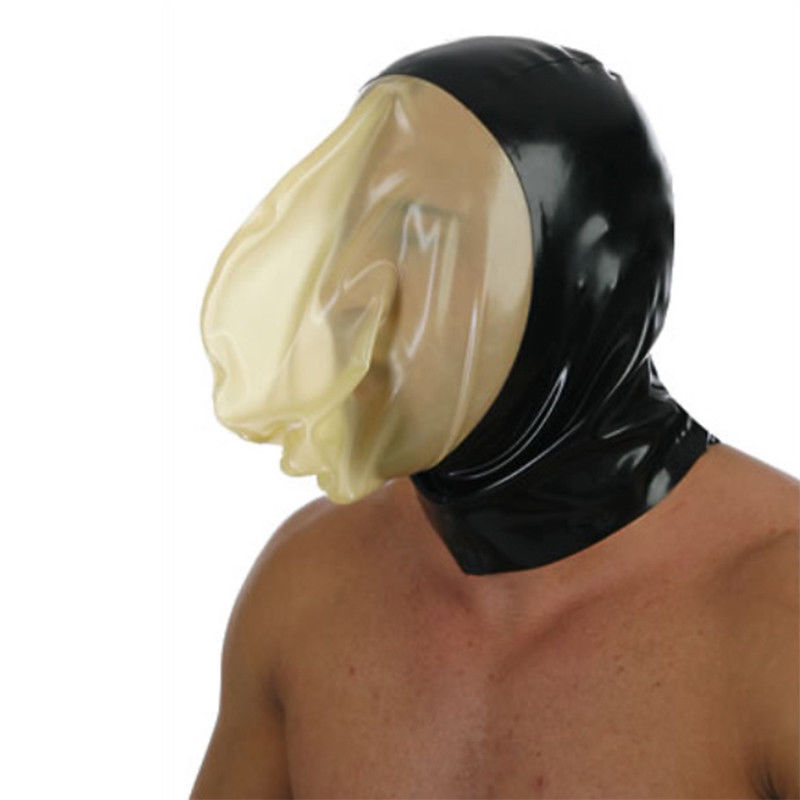 Latex Hood Sealed Breathing Bag for Experience Suffocation Rubber Mask sex toys for couples restraints bdsm mask adult sex games-in Adult Games from Beauty & Health    1
