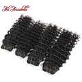 8A Ali Annabelle Hair Products High Quality Unprocessed Brazilian Virgin Hair Deep Wave Human Hair Weave 4 pcs from 12 to 28inch
