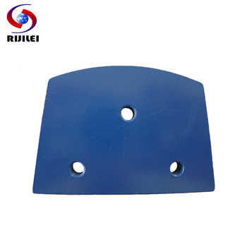 RIJILEI 30PCS/lot Trapezoid Metal Diamond Grinding discs Pad strong magnetic Grinding shoes plate of concrete floor grinder A10