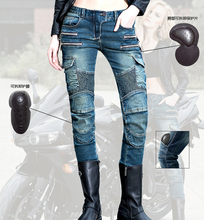 2016 The newest  Uglybros MOTORPOOL UBS11 leisure motorcycle ms locomotive vintage jeans blue jeans women pants  jeans