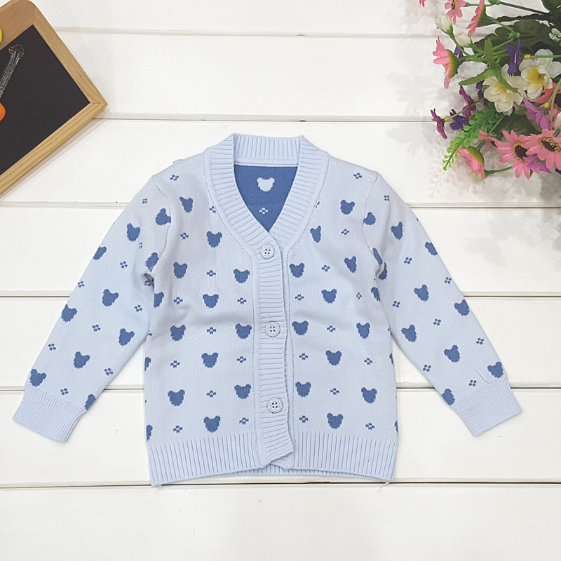 a763f3231e23 Knitted Baby Sweaters Character Crochet Button Sweater Boys Girls ...