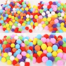 Bolas de pompom em forma de redonda, macias, mistas, 100-500, macias, fofo, pom, para crianças, faça você mesmo, roupa, artesanato 10, imperdível mm/15mm/20mm/25mm/30mm