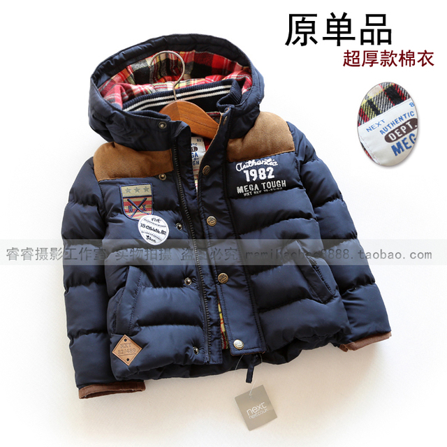 new 2015 autumn winter winter jackets children clothing baby boys Casual coat kids jackets thick down & parkas hooded warm coats