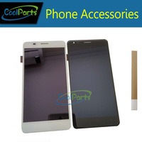 1PC/Lot 5.5'' For Wileyfox Spark X LCD Display+Touch Screen Digitizer Assembly Replacement Part Black White Color With Tape