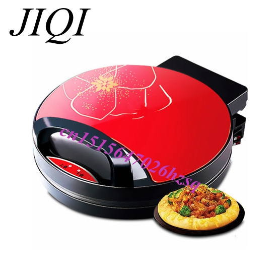 JIQI Household  Electric Heating baking Pan Suspended Ttwo-sided Grilled Machine Good Helper jiqi baking pan suspended double side heating pancake machine flapjack cake household electric barbecue pie machine 1200w