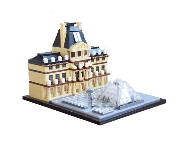 Réplica Set 21024 Kit de Construcción de Bloques de Construcción de Arquitectura Del Louvre MOC Construcción de Ladrillo de Juguete Educativo Sin caja original