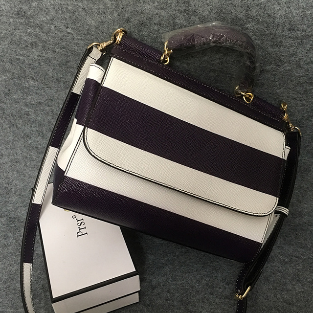 Black And White Stripe Bags Female 2017 One Shoulder Cross Body Women S Horizontal Handbag