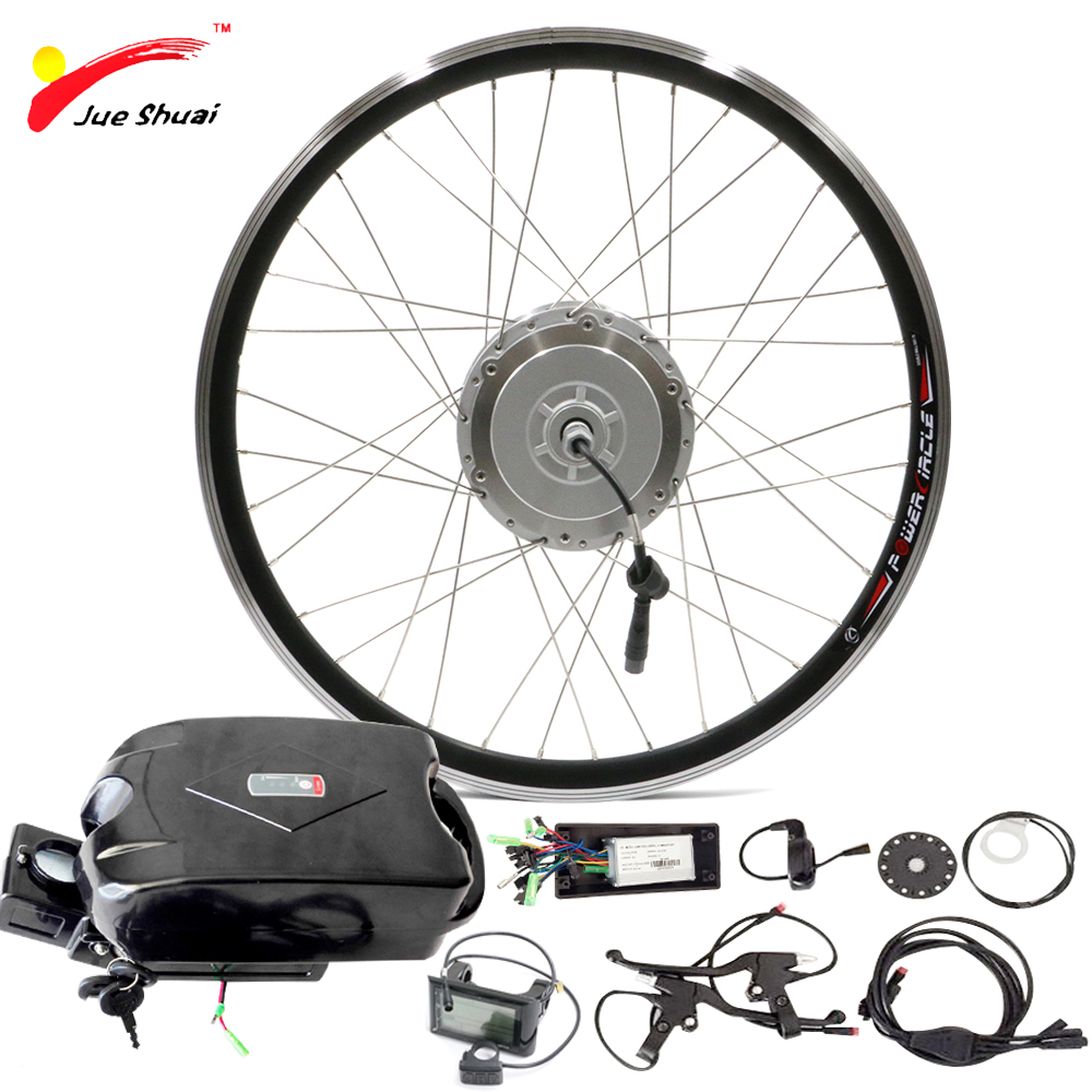 "48V 250W 500W Electric Bike Kit With Battery For 20"" 26"
