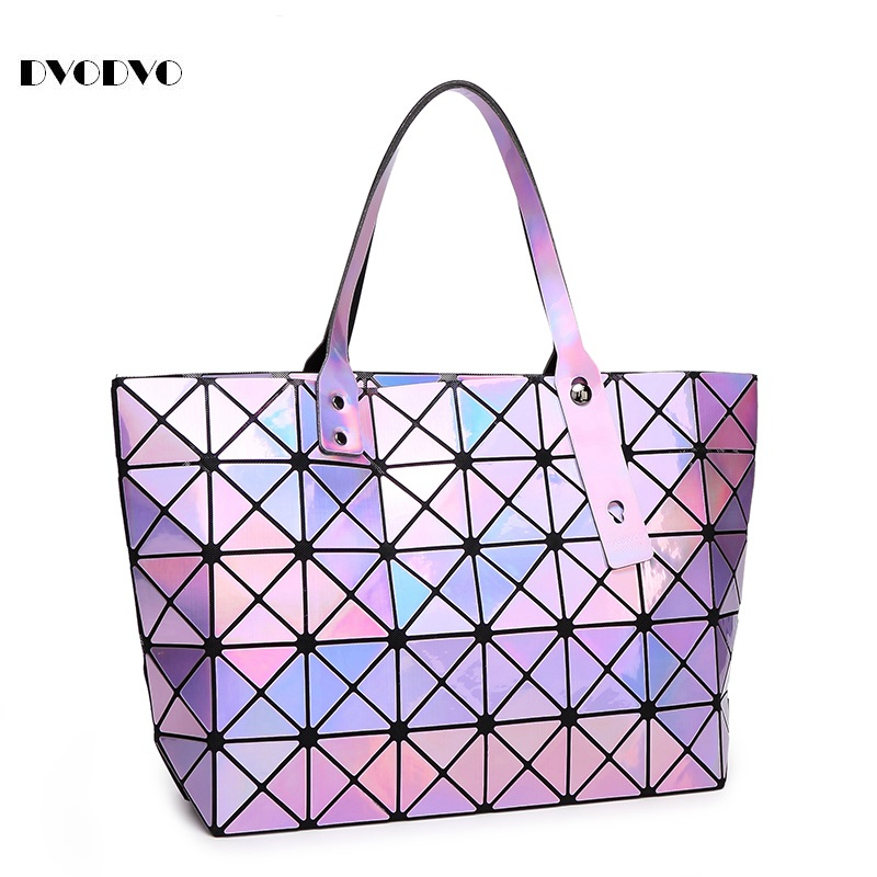 DVODVO Fashion High Quality Bao Bao Bag Women Tote Fold summer Baobao Hand Bag Laser Geometric
