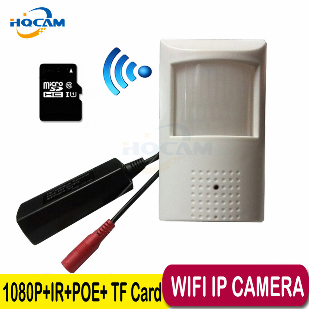 HQCAM POE 1080P Wifi audio Night vision camera HD Network Mini IP Camera 2MP Security P2P CCTV IP Cam POE IP camera TF Card Slot