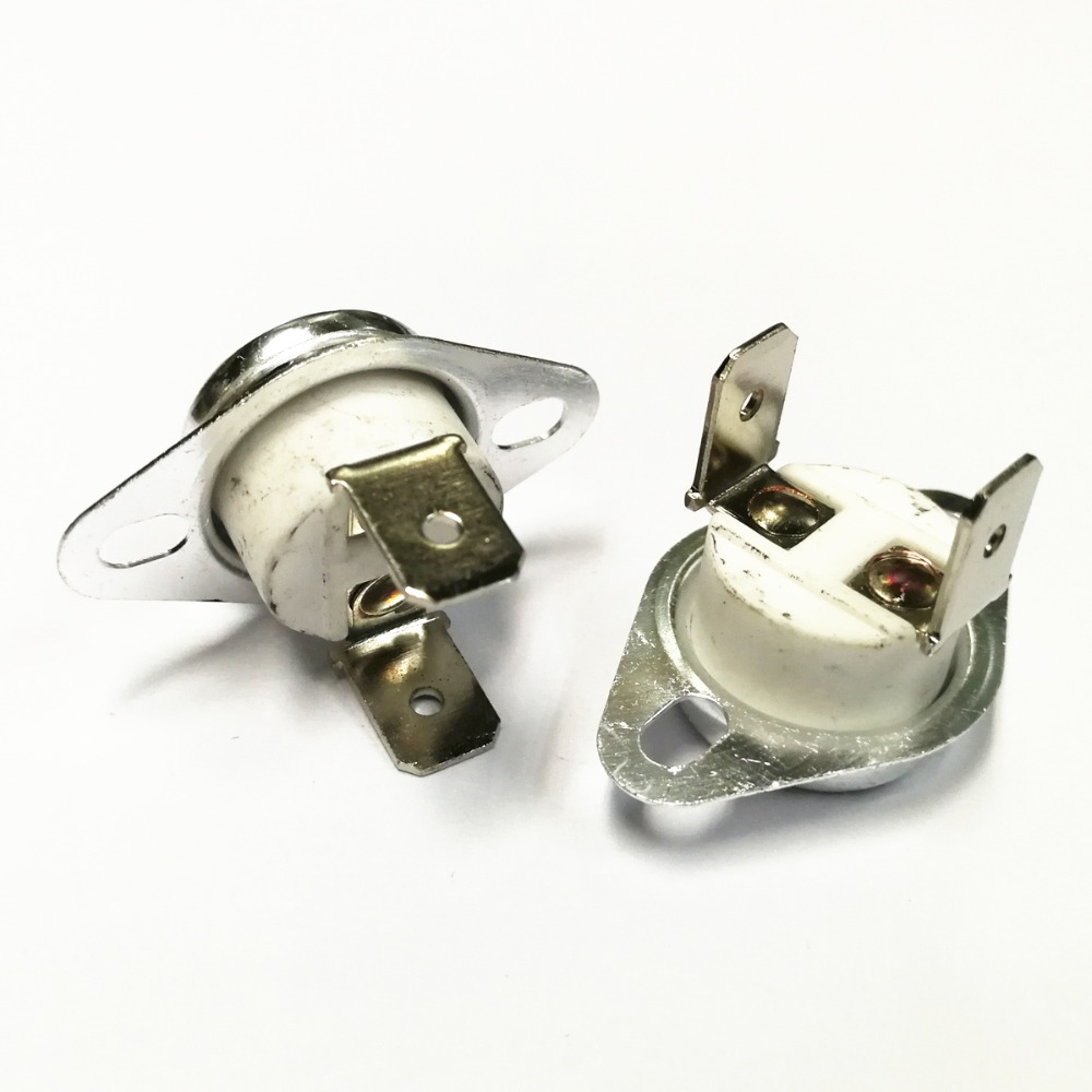 10PCS KSD302 16A 40-200 degree Ceramic 250V KSD301 Normally Closed Temperature Switch Thermostat Fuse