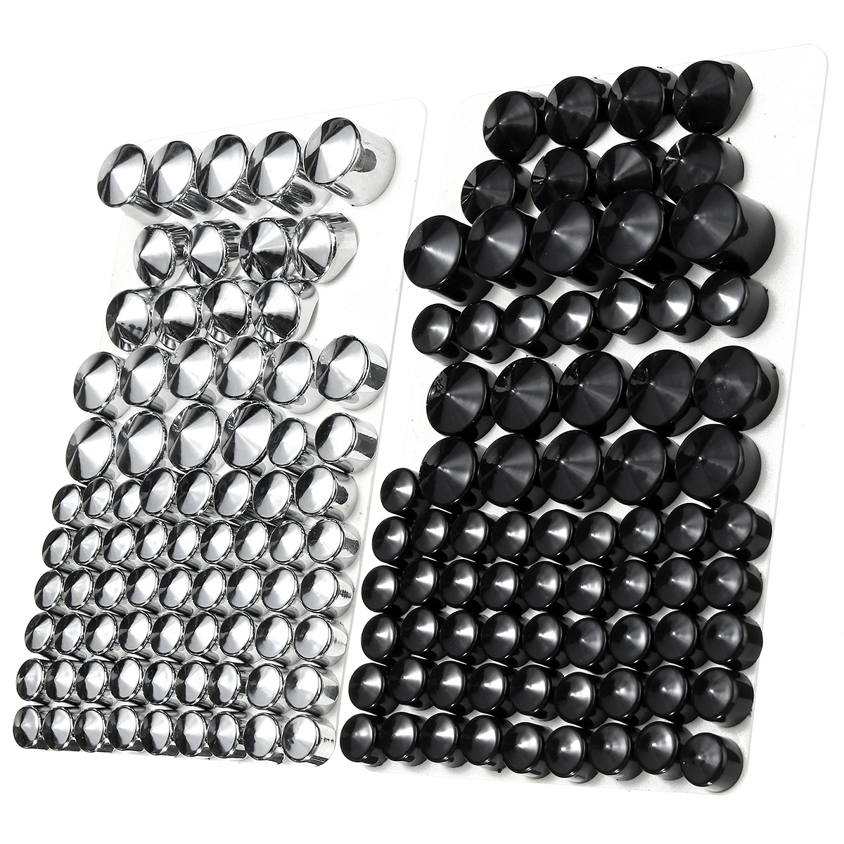 76pcs Motorcycle Screw Bolt Topper Caps Cover For Harley-Davidson Twin Cam/Dyna 1991-2013 Chrome Black76pcs Motorcycle Screw Bolt Topper Caps Cover For Harley-Davidson Twin Cam/Dyna 1991-2013 Chrome Black