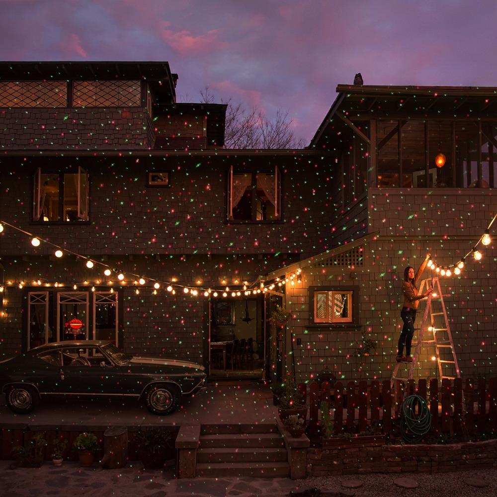 чужеродные дистанционного рождество открытый РГ лазерное шоу проектор водонепроницаемый света на праздник xmas дерево украшения садовое освещение