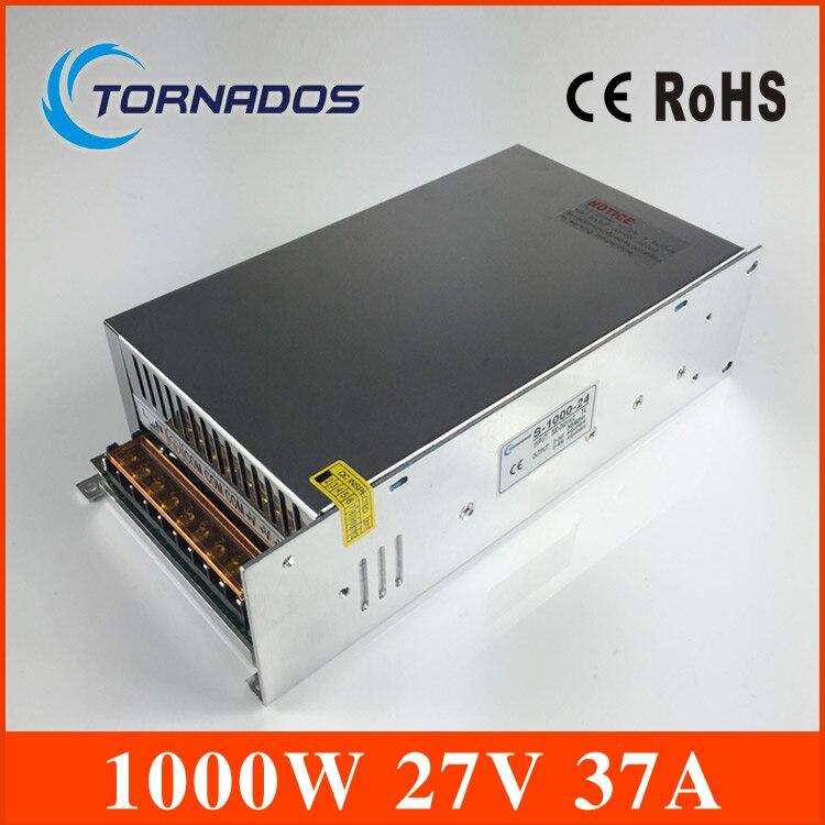 цена на Power Supply 27v 1000w high quality input 110v 220v output 27v S-1000-27 ac to dc power supply ac dc converter