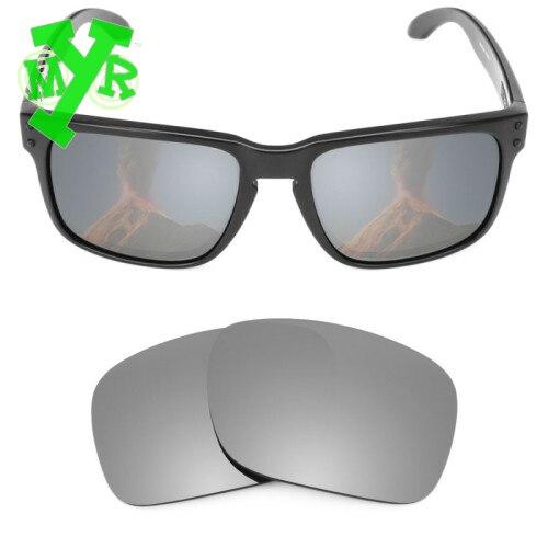 Lentes de reposição para Oakley MryLens polarizados Holbrook óculos de sol  cor Titanium original óculos esportivos ao ar livre em Fantasias Masculinas  Do ... a4cac552da