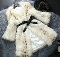 Nueva Chaqueta de piel de Mapache Genuina Naturaleza de piel de Mapache Abrigo de Invierno Piel de Las Mujeres de Moda precio Al Por Mayor