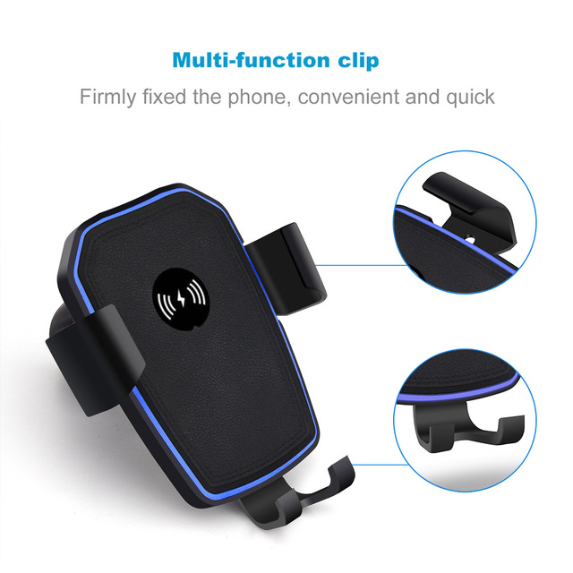 FDGAO Qi Car Wireless Charger For iPhone XS X 8 Car Air Vent Mount Phone Holder USB Wireless Charging for Samsung S9 S8 Note 9 8