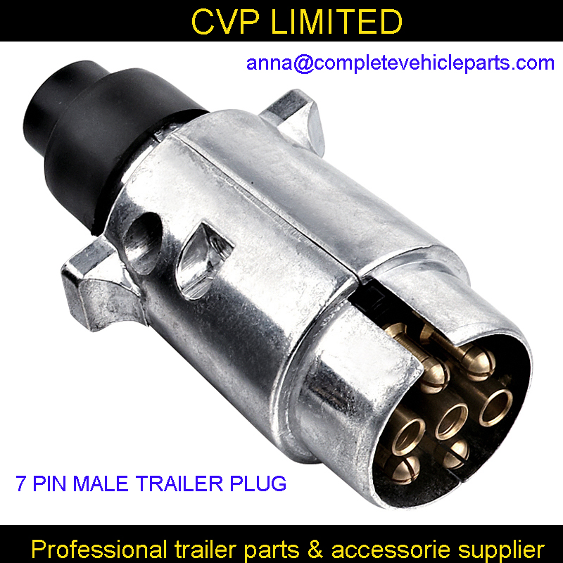 7 Pin male trailer metal connector plug / trailer light connector ...
