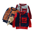 baby boys autumn sweaters 2017 baby boy clothes autumn/winter single breasted kids turtleneck letter printed kids knited sweater