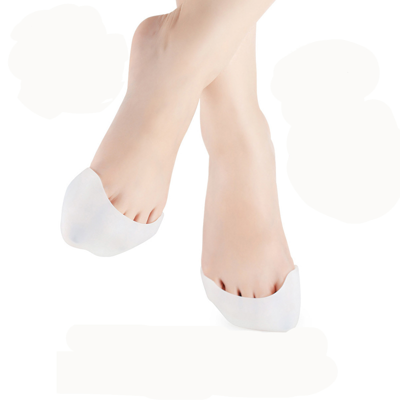 2Pair Feet Care Professional Silicone Foot Pointe Toe Cap Cover Soft Pads Protectors for Pointe Ballet Shoes Pedicure Device