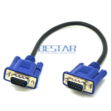 25cm/10″ HD15Pin VGA D-Sub Short Video Cable Cord Male to Male M/M Male to Female and Female to Female RGB Cable for Monitor