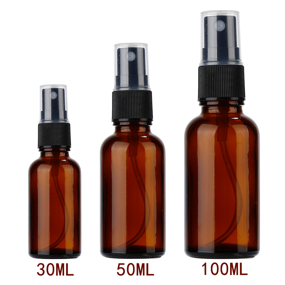 Aihogard 30ml/50ml/100ml Refillable Sprayer Bottles Esstenial Oil Liquid Empty Atomizer Makeup Spray Bottle Perfume Glass цена