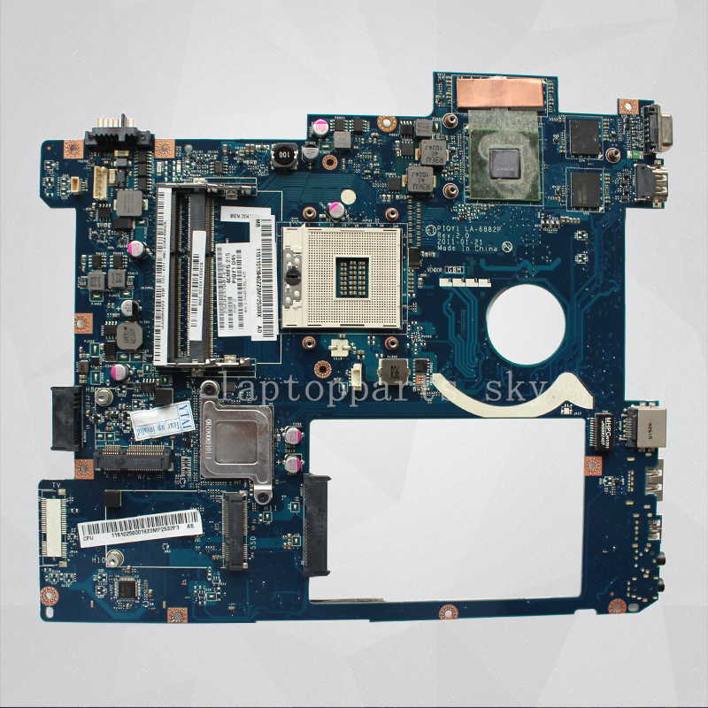 Brand New for Lenovo Ideapad Y570 laptop motherboard PIQY1 LA-6882P GT555M HM65 PGA989 DDR3  Fully Tested brand new qiwg7 la 7983p rev 1 0 for lenovo g780 notebook motherboard