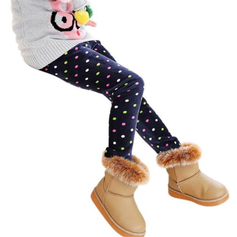 TELOTUNY baby girls leggings winter kids thick Fleece warm pants 2-7T 25C0419