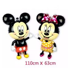 Disney Mickey Minnie Mouse 110 cm Giant Balloon Cartoon toys Map Decoration Baby Shower Birthday Party Balloon Toys Kids