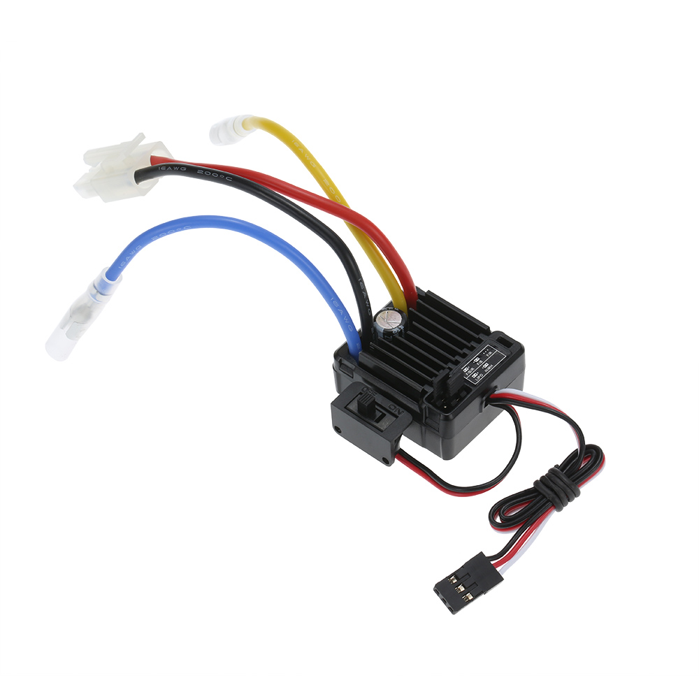 все цены на WP-1060-RTR Waterproof Brushed 2S-3S 60A ESC for 1/10 Tamiya Traxxas Redcat HPI RC Car онлайн